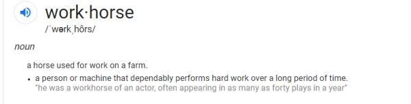workhorse definition